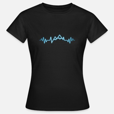 Heartbeat Mountain heartbeat gift - Women's T-Shirt