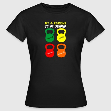 4 reasons to be strong - Women's T-Shirt