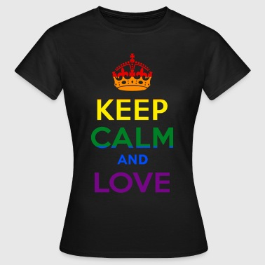 Keep Calm and Love - Rainbow - EN - Koszulka damska