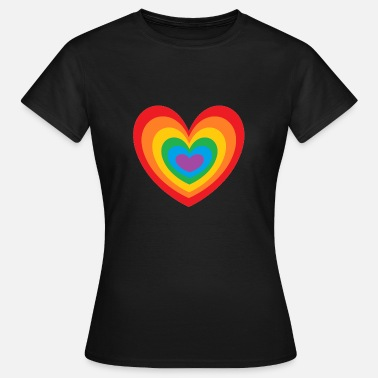 Gay Grossesse Regenbogen Herz Rainbow Gay Pride heart pride - T-shirt Femme