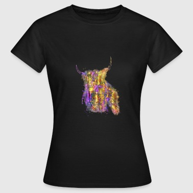 Stem Stem cow glowing bright - Women's T-Shirt