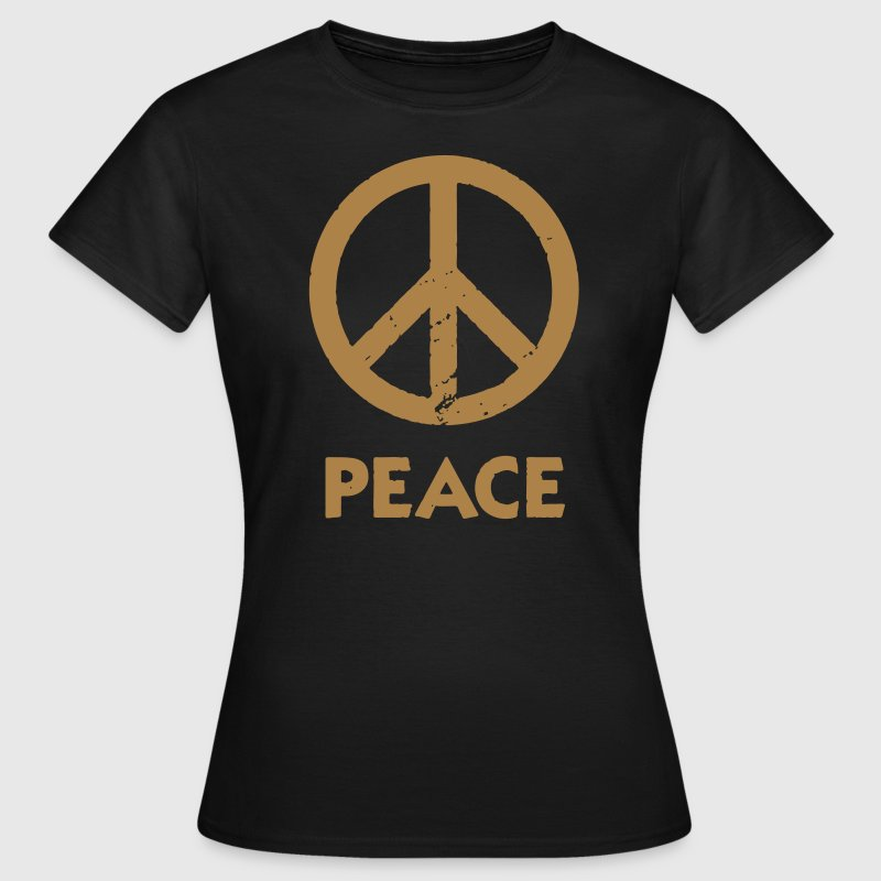 Peace Peacezeichen Love and Peace - Camiseta mujer