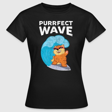 Purrfect Wave | Cat Surfing Wave - T-shirt dam