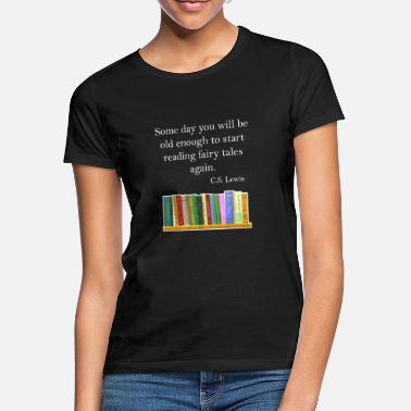 Book Reading books, novel, science fiction, fantasy - Women's T-Shirt