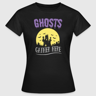 Magic The Gathering Halloween Shirt Ghosts Gather Here Gift Tee - Women's T-Shirt