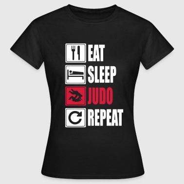 Giappone Judo Eat-Sleep-Judo-Repeat - Maglietta da donna