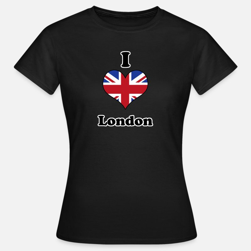 Engeland T-Shirts - I love London - Vrouwen T-shirt zwart