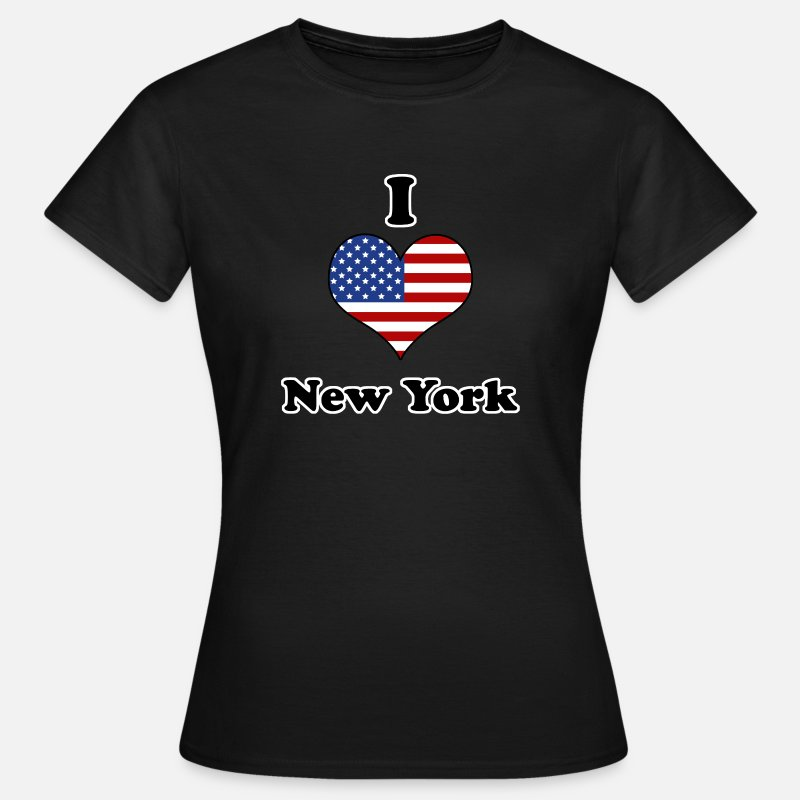 América Camisetas - I love New York - Camiseta mujer negro