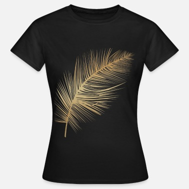 Plumes Plume or - T-shirt Femme