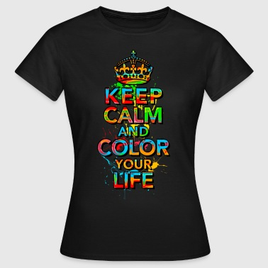 KEEP CALM, music, cool, text, sports, love, retro - Camiseta mujer