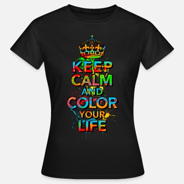 Keep Calm KEEP CALM, music, cool, text, sports, love, retro - Vrouwen T-shirt