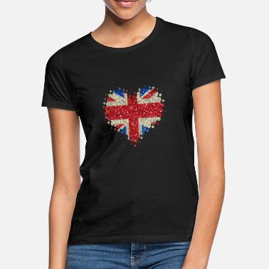 Funny t shirt country British retro fashion sport Torn Union Jack Flag T-Shirt
