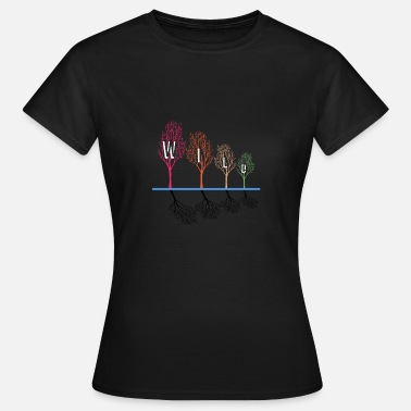Deciduous Tree Wilderness wild nature deciduous trees gift idea - Women's T-Shirt
