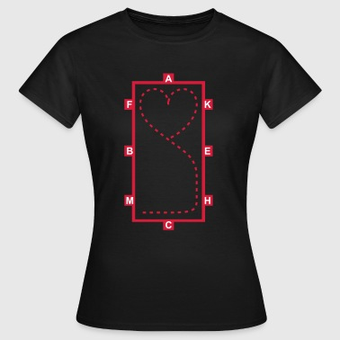 Dressur Hannoveraner Dressage Riding heart - Women's T-Shirt