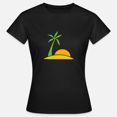 Lonely Island Beach on a lonely island - Women's T-Shirt