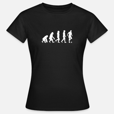 Menneskelige Evolution Menneske Evolution Soccer - Evolution Football - Dame-T-shirt