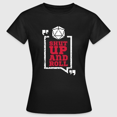 Pen and paper shut ups and roll red - Frauen T-Shirt
