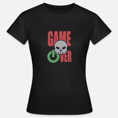Powerbutton Game Over Spell Skull Skull Powerbutton - Camiseta mujer