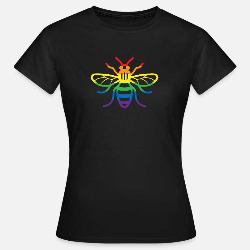 Pride T-Shirts - Gay Pride Bee - Women's T-Shirt black