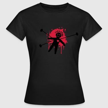 Ritual Magic voodoo, doll, gothic, goth, magic, black magic, blood, ritual, splatter, heart, pain, black - Women's T-Shirt