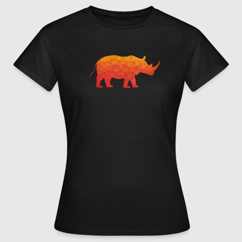 Retro Triangle Origami Rhinoceros / Rhino - Women's T-Shirt