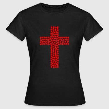 Cross out of hearts - Women's T-Shirt