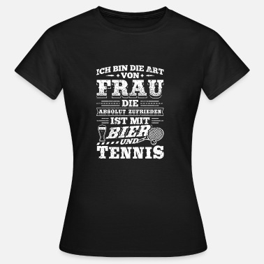 Tennis-ball Lustig Lustiges Tennis Shirt Ich Bin Die - Frauen T-Shirt