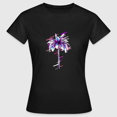 Isoleret Tree Palms 80s Retro Violet - Dame-T-shirt