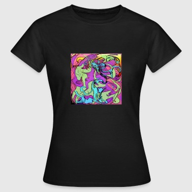 Psychodelic, cube, square, rectangle, frame - Women's T-Shirt