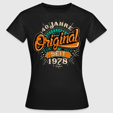 1978 Original 40 Jahre retro Orange - Frauen T-Shirt