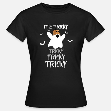 Tricky Halloween Ghost T-Shirt It's Tricky Tricky Tricky - Women's T-Shirt