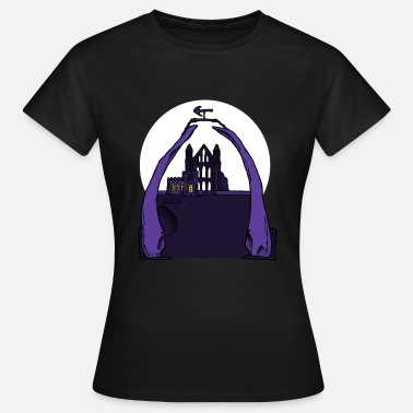 North Yorkshire Whitby Abbey & Whalebones - Vrouwen T-shirt