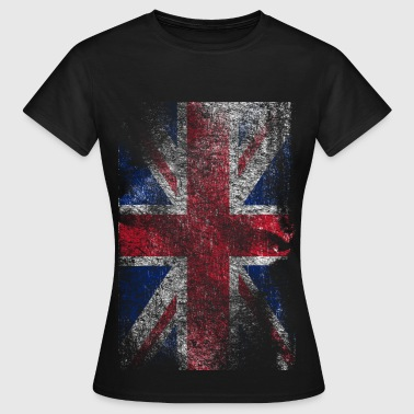 union jack - used look - T-shirt dam