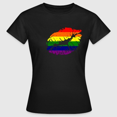 Pride just a kiss - Frauen T-Shirt