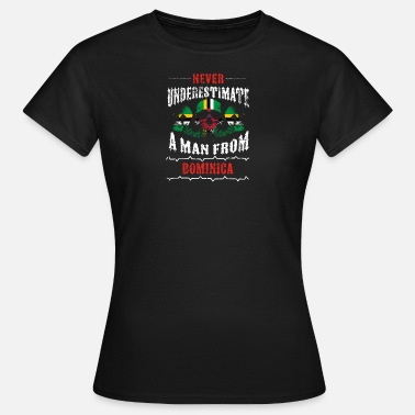 Dominica Vintage never underestimate man DOMINICA - Women's T-Shirt