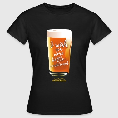 Craft Beer Shirt Design bottle-conditioned - Frauen T-Shirt