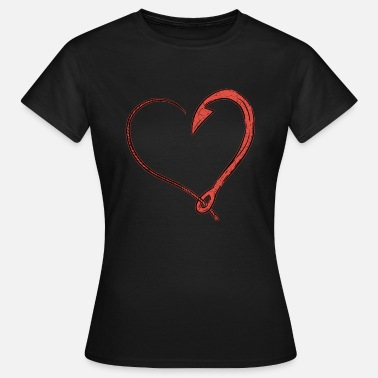 Love Fish Fishing love fishing hook - Women's T-Shirt