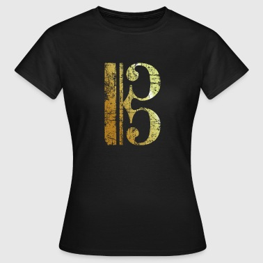 Viola C Clef - Viola Key - Tenor Clef (Ancient Gold) - Women's T-Shirt