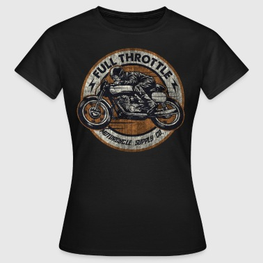 SSD Full Throttle retro racer - RAHMENLOS Biker Design used retro destroyed vintage look - Frauen T-Shirt