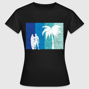 Vacationer Surfer with palm vacationer - Women's T-Shirt