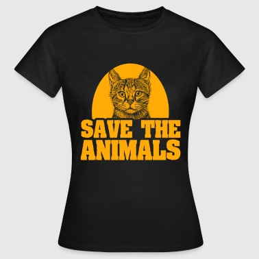 Animal protection cat animal lover - Camiseta mujer