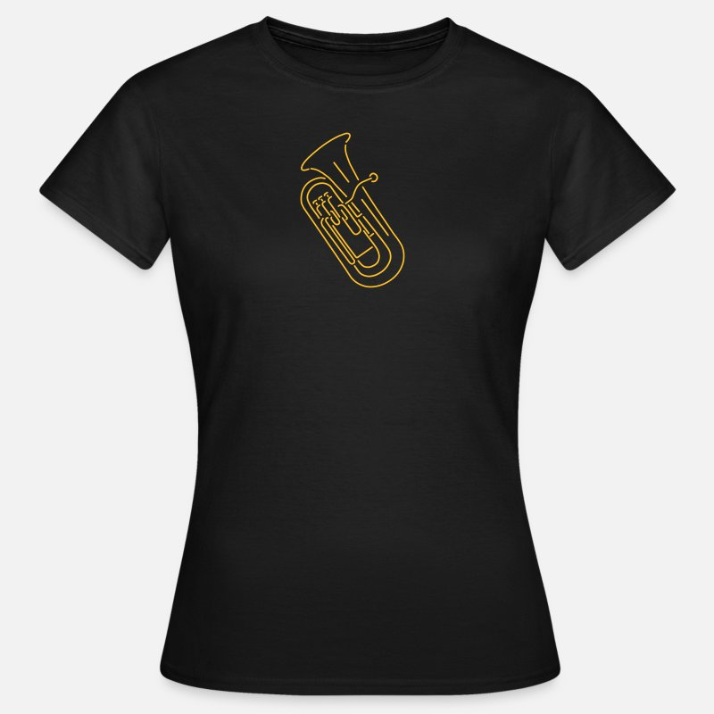 Bass T-Shirts - euphonium - Women's T-Shirt black