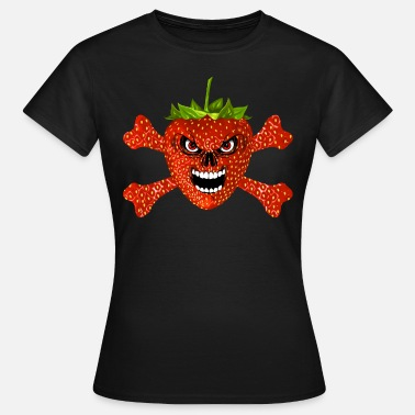 Fraise strawberry - fraise skull 02 - Women's T-Shirt
