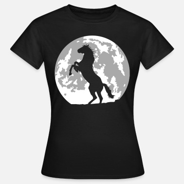 Cheval cheval lune - T-shirt Femme