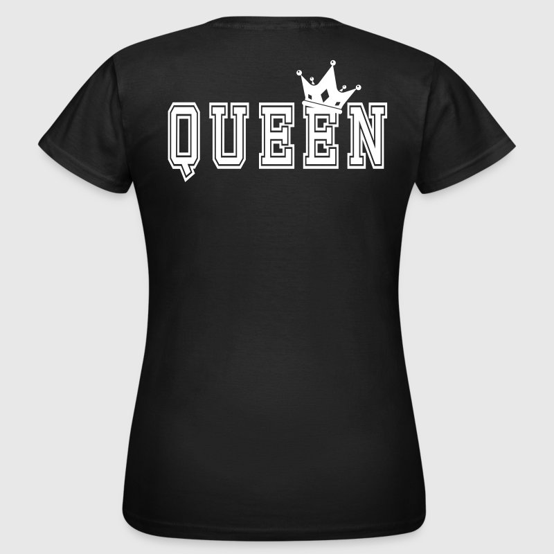 Valentine's Matching Couples Queen Jersey - T-skjorte for kvinner