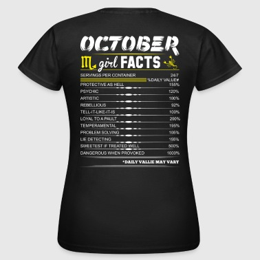 1978 October Girl Facts Scorpio - Women's T-Shirt