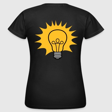 Ray Of Light sun rays bulb light electricity idea smart - Women's T-Shirt