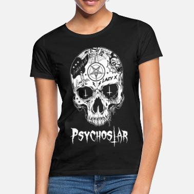 Psychobilly Psychostar scull - Women's T-Shirt