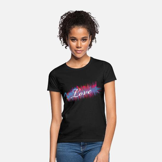 Love T-Shirts - Love love couple couples - Women's T-Shirt black