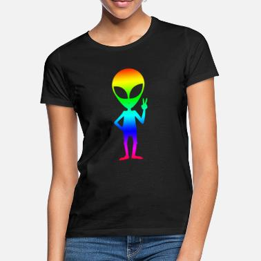 Spacemonster Alien Ufo Peace Spacemonster Discovery Spaceship - Women's T-Shirt